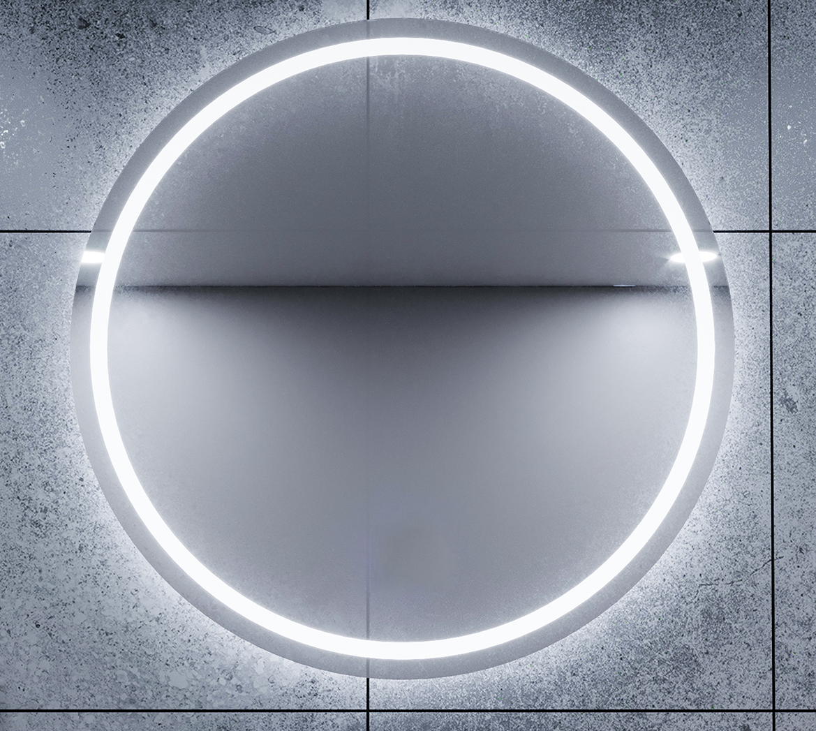 800X30mm LED MIRROR BACKLIT WITH DEMISTER AND TOUCH BUTTON