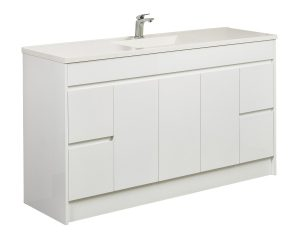 CALCO 1500 FLOOR CABINET WITH ETRO SINGLE BOWL TOP