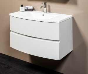 DUNE 900 LIGHT GREY  W/H CABINET WITH POLY TOP