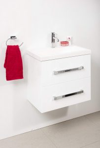 ENSUITE 600 WALL HUNG WITH ENSUITE POLYMARBLE TOP