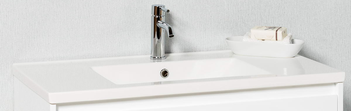 LECCO PLUS 900 POLYMARBLE TOP WITH OVERFLOW