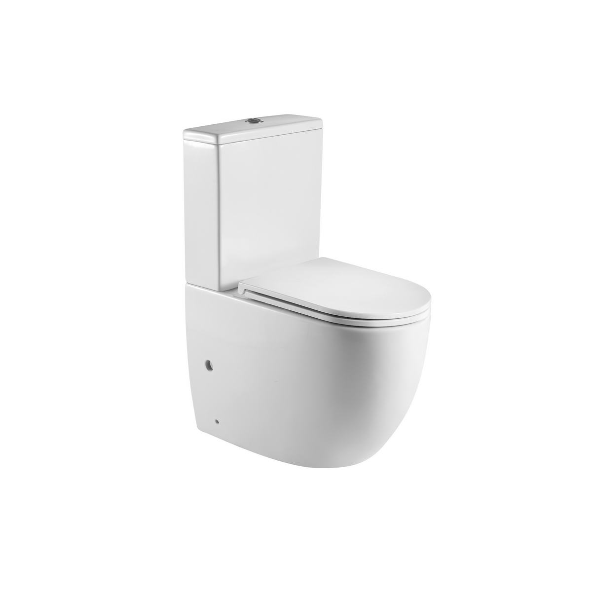 ZENA RIMLESS TOILET SUITE WITH GEBERIT INTERNALS WITH SOFT CLOSING SEAT