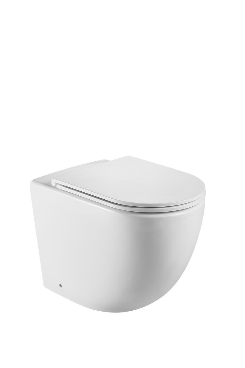 ZENA RIMLESS FLOOR PAN WITH SOFT CLOSING SEAT