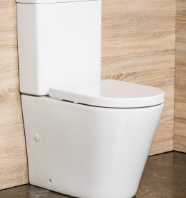 GRACE RIMLESS TOILET SUITE WITH SOFT CLOSING SEAT