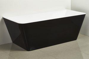 MIKASA 1700 BLACK FREESTANDING BATH