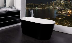 ZARA 1500 BLACK FREESTANDING BATH