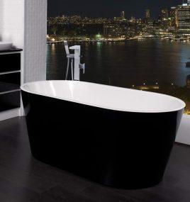 ZARA BLACK 1700 FREESTANDING BATH