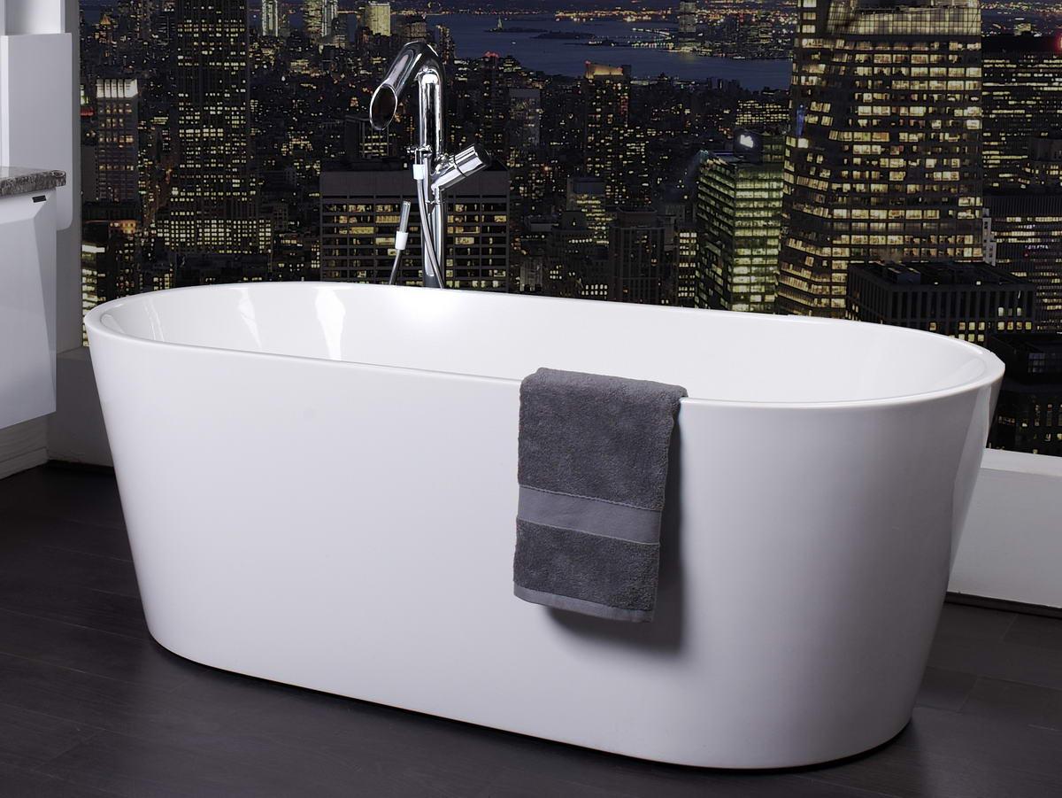 ZARA 1500 WHITE FREESTANDING BATH