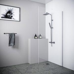 Multi Size WALK-IN PANEL Shower Screen 10mm Toughened Glass