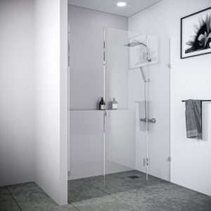 Multi Size FRONT ONLY Frameless Shower Screen 10mm Toughened Glass