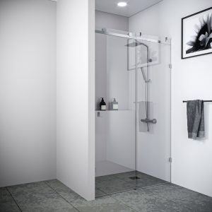 Multi Size FRONT ONLY SLIDING Shower Screen 10mm Toughened Glass